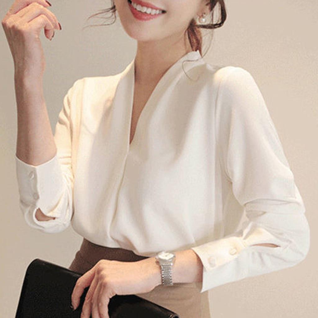 Lady Fashion Pure Color Blouse