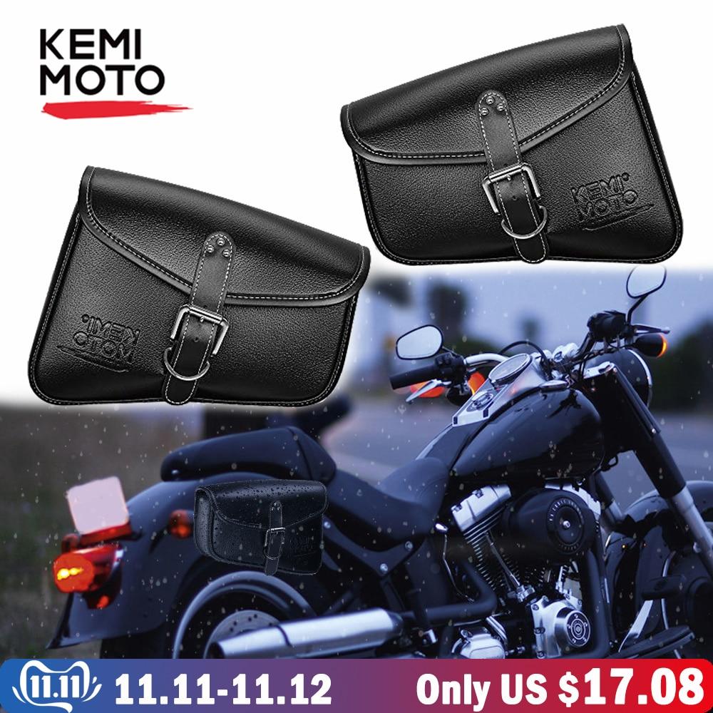MOTORCYCLE Solo Saddle Bag Swing arm SIDE BAG for Harley Sportster Super Low
