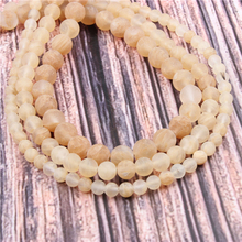 Hot?Sale?Natural?Stone?Yellow Watermelon15.5?Pick?Size?4/6/8/10/12mm?fit?Diy?Charms?Beads?Jewelry?Making?Accessories