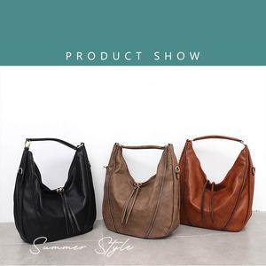 Image 2 - CEZIRA sacs à main en cuir PU souple pour femmes, sac à épaule ajouré grand Hobos avec fermeture éclair à pompon, fourre tout nouvelle mode