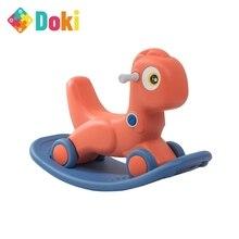 Infant Shining Kids Animal 2in1 Rocking Horses Baby Toy Horse 1-6 Years Balance Multi-functional Kids Indoor Toys Gift Doki Toy