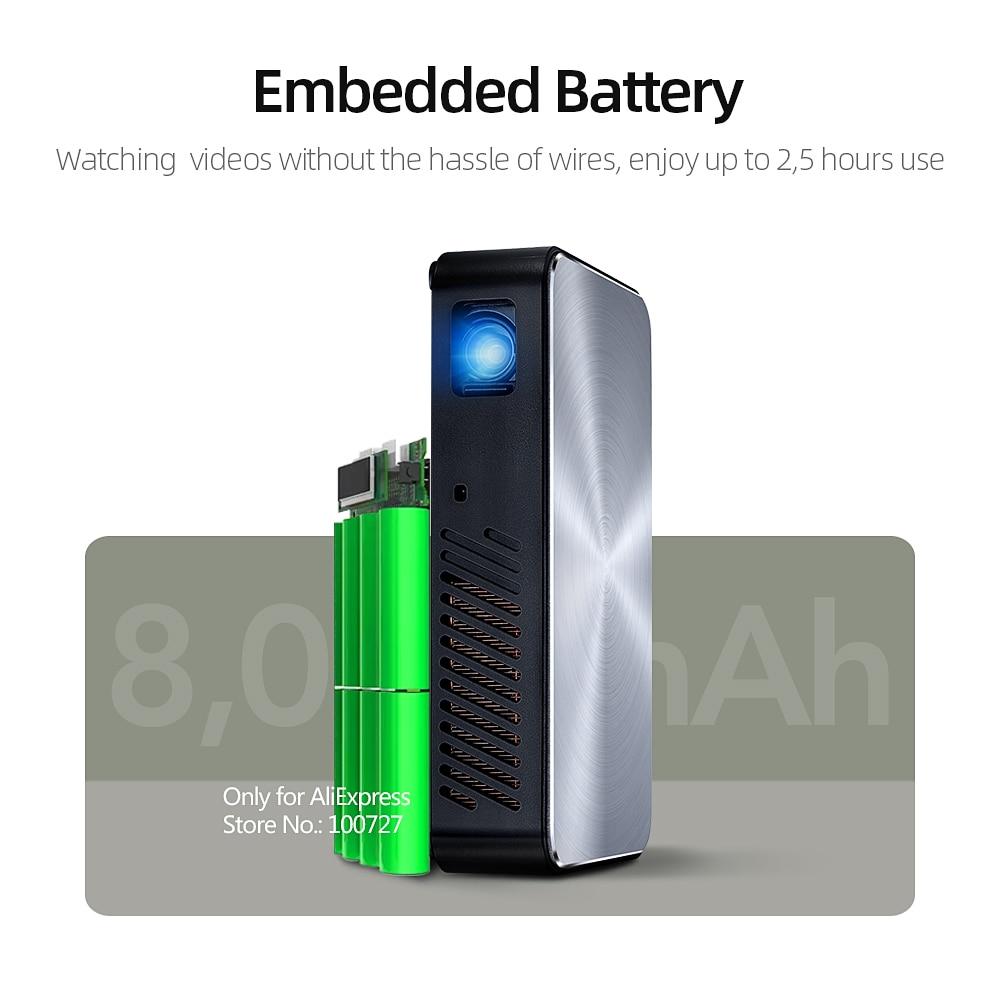 VIVIBRIGHT Full HD Projektor J10, 1920x1080 P, Android, WIFI, HD in. 6000mAH Batterie, Tragbare MINI Projector.1080P Heimkino