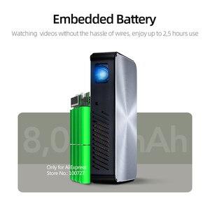 Image 3 - VIVIBRIGHT Full HD Projektor J10, 1920x1080P, Android, WIFI, HD in. 6000mAH Batterie, Tragbare MINI Projector.1080P Heimkino