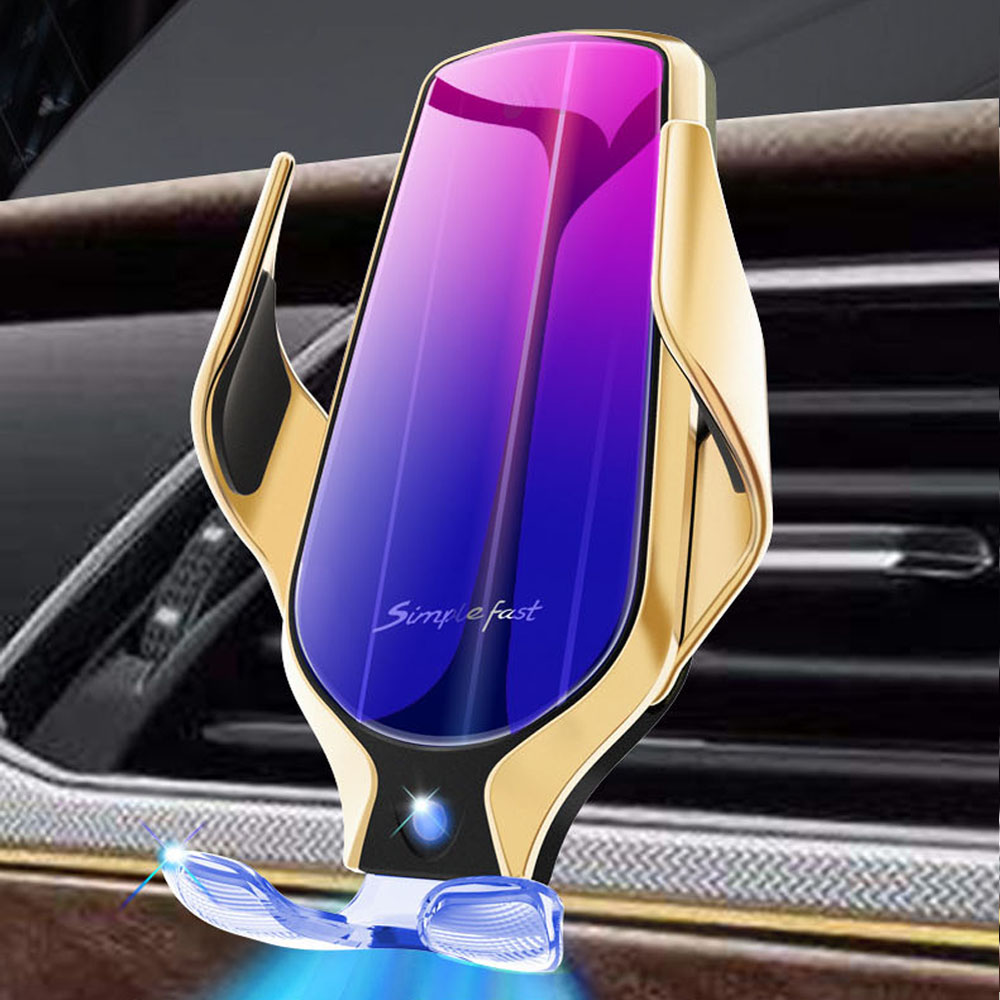 R9 smart sensor car wireless charging Holder 360 Rotate 10W Simple Fast Wireless Charger For Huawei For iphone 11 Pro max XS Max|Phone Holders & Stands| |  - title=