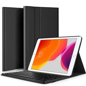 Image 1 - Bluetoothキーボードipad 7th世代 (2019)/新型ipad 8th世代 (2020) 10.2インチ 着脱式のbluetoothキーボード保護ケース