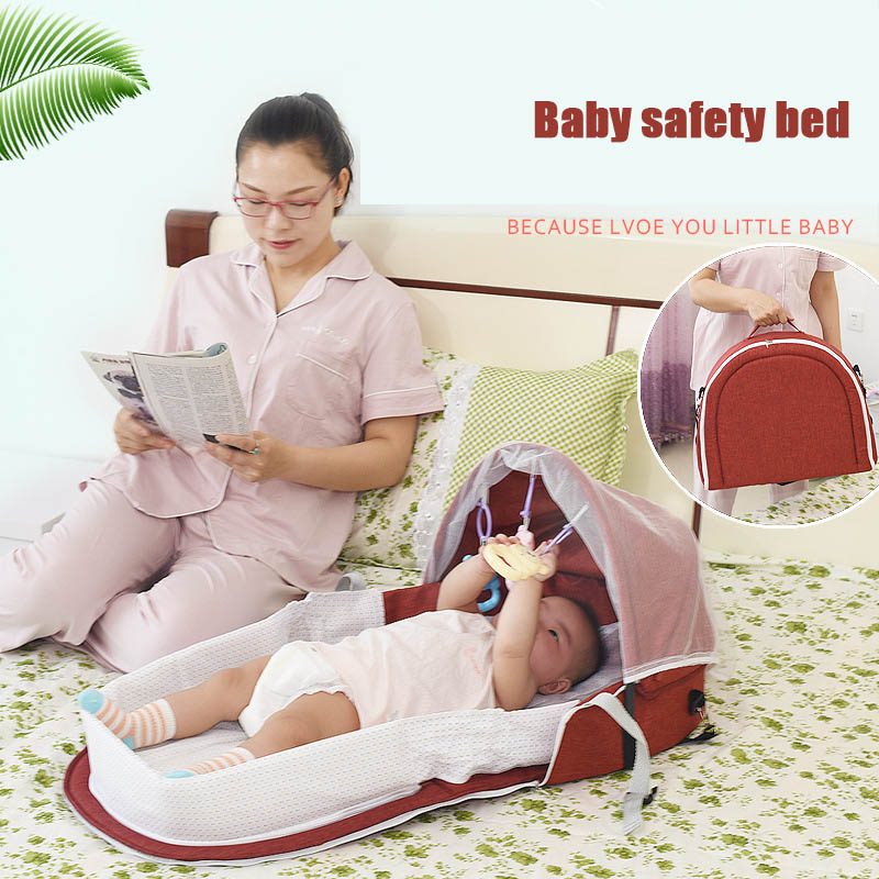 New Baby Nest Portable Travel Baby Cribs Toddler Multi-function Folding Bed Folding Chair NE