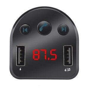 Беспроводной автомобильный FM-передатчик, Радио адаптер, зарядное устройство USB, ЖК MP3-плеер, Автомобильный MP3 плеер, передатчик Bluetooth автомагнитола