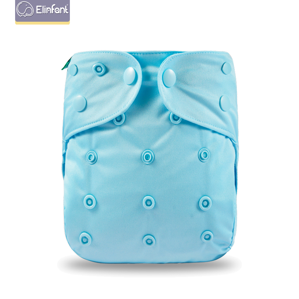Elinfant Adjustable Size Cloth Diaper Cover With Recyclable And Reusable Washing   One Size Diapers Fit 3~15kg Baby