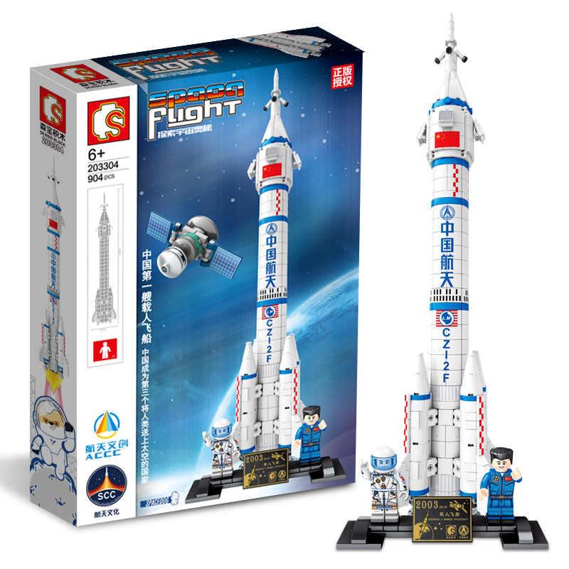 Yeni uzay havacılık ay probu uzay gemisi insanlı uzay aracı çocuk oyuncakları tuğla Model seti hediye oyuncak arkadaş için ücretsiz kargo