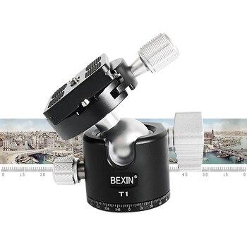 CNC Machining Aluminum Ball Head Ballhead Low Center of Gravity for Canon Nikon Sony DSLR Camera Tripod Monopod