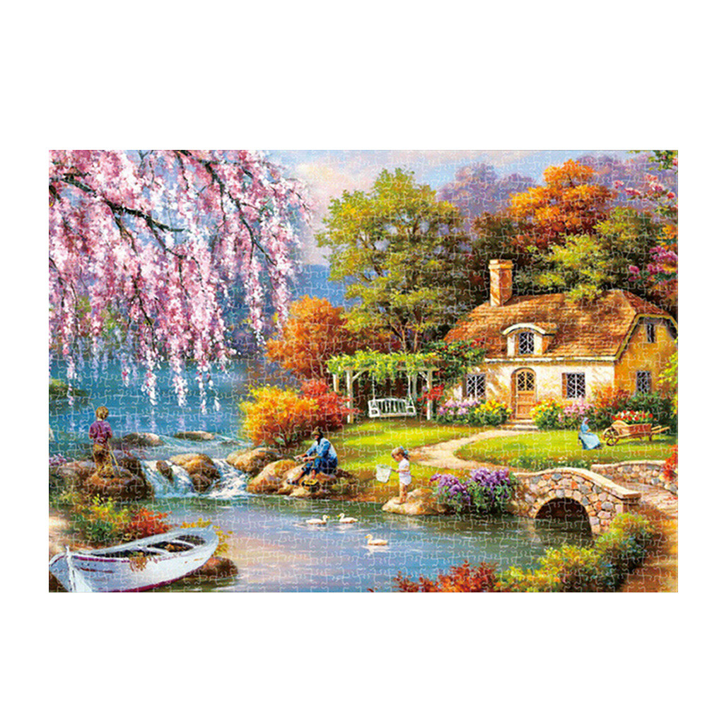 Puzzle 1000 Pieces Landscape Puzzle Game Interesting Toys 16.5x11.7 Inch Educational Toys Or Adults Puzzle Toys Kids Children