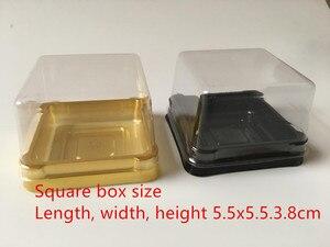 Image 4 - 100 סטי ברור פלסטיק חתונה Cupcake קופסות כלה מקלחת מסיבת חג המולד מתנת קופסות עוגת כיפת אריזה טובות קופסות