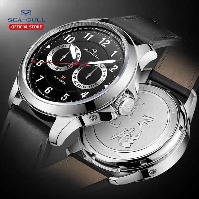 Seagull zegarek męski automatyczny zegarek mechaniczny 100m wodoodporny zegarek zegarek biznesowy męski zegarek 2019 męski zegarek 816.27.1012H