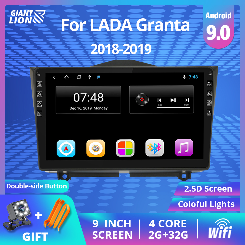 2din Android 9.0 Car Radio For LADA BA3 Granta Cross 2018 2019 Car Multimedia Video Player Navigation GPS No 2 Din DVD Player image