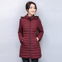 KMVEXO Casual 2019 Winter Jacket Women Hooded Cotton Padded Autumn Female Coat Outwear Slim Ladies Parka Abrigos Mujer Invierno стоимость