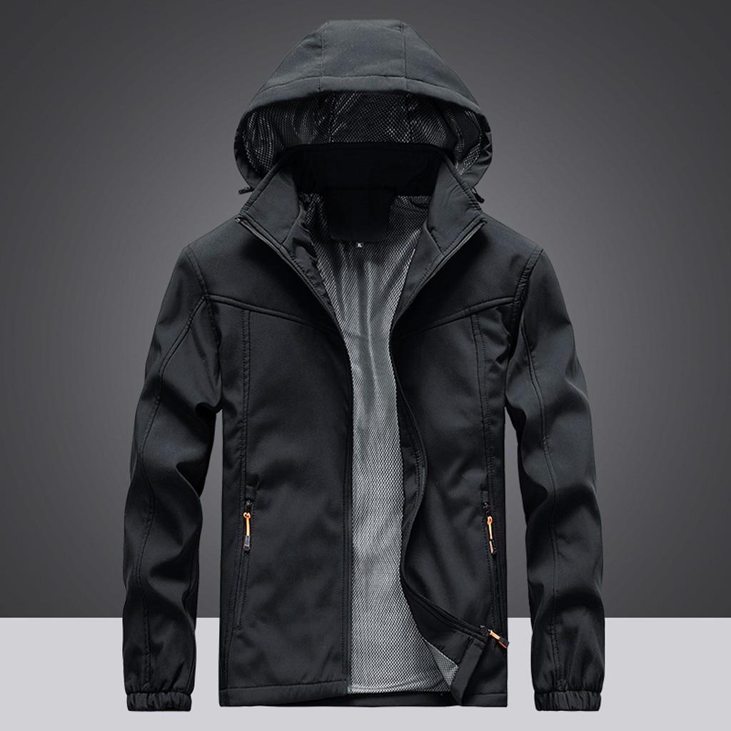 2019 Men Autumn Fashion Waterproof Jacket Quick Drying Breathable Sport Outdoor Coat Windbreaker Jacket Softshell Jacket Men