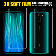 Front+Back Full Screen Protector TPU Film For Xiaomi Redmi Note 8 7 6 K20 Pro Mi 8 9 9T A2 Lite Max 3 Pocophone F1 Hydrogel Film(China)