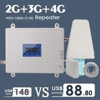 Cep telefonları ve Telekomünikasyon Ürünleri'ten Sinyal Arttırıcılar'de 2G 3G 4G Tri Band cep sinyal güçlendirici amplifikatör GSM 900 4G LTE 1800 B3 3G WCDMA 2100 B1 cep telefonu sinyal amplifikatörü tekrarlayıcı
