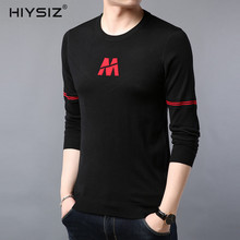 HIYSIZ New Sweater 2019 Letter Pattern Casual 4 Colors O-Neck Long Sleeves Autumn Winter Fashion Trend Brand1 Men Pullover SW035