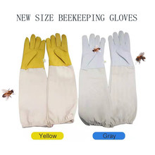 Beekeeper Anti-bee Gloves Protective Sleeves Ventilated Sheepskin And Canvas For Apiculture Tools Beekeeping Gloves
