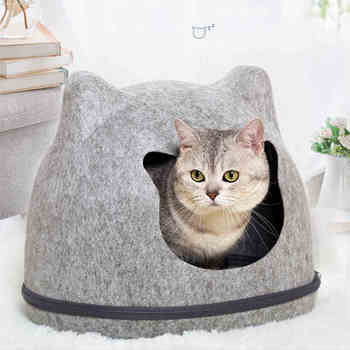 Heypet Cat Bed Pet House Cats Mat Pet Hole House Bench for Dog Puppy Home Nest Pet Cat Ear Kennel Pet Mat