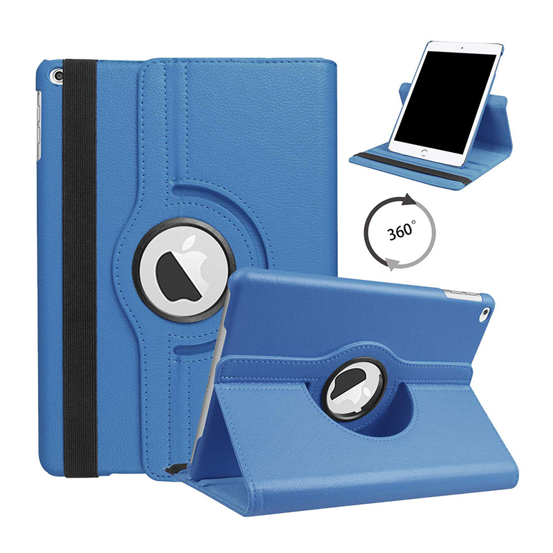 10.2 LIGHT BLUE Blue For iPad 10 2 2019 2020 Smart Cover 360 Degree Rotating Case for Apple iPad 7th