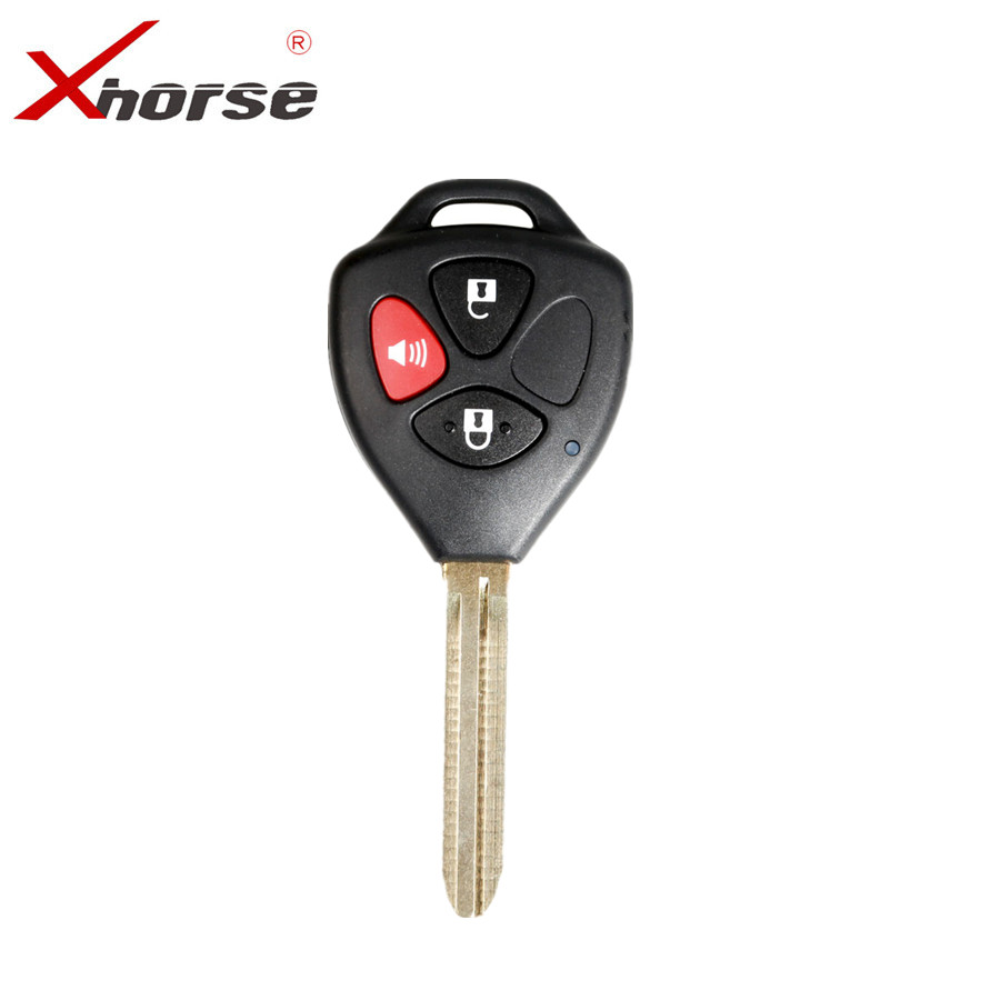 XHORSE XKTO04EN Wire Universal Remote Key For Toyota Style 3 Buttons For VVDI VVDI2 Key Tool English Version One Piece