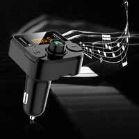 Wireless FM Transmitter Bluetooth Car Kit MP3 Music Player Bluetooth 5.0 Handsfree Calling Dual USB Car Charger Support TF Card