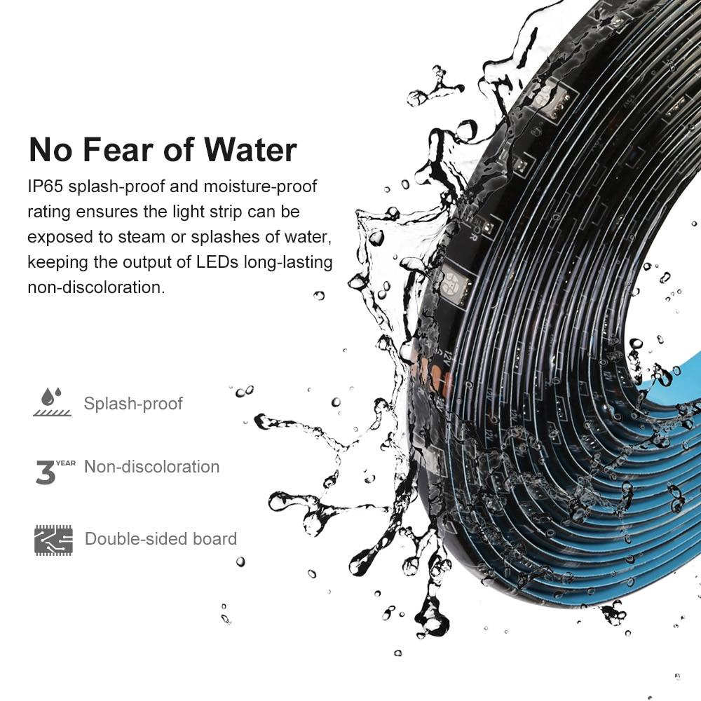 Sonoff L1 Smart Led Light Strip Dimbare Waterdichte Wifi Flexibele Rgb Strip Verlichting Werk Met Alexa Google Thuis, dance Met Muziek 5