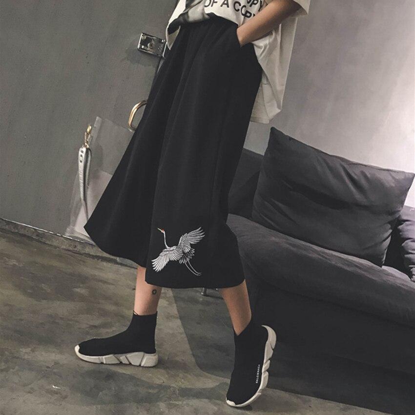 Japanese Style Harajuku Wide Leg Pants Woman Loose Kanagawa Print Trousers Men Casual Ukiyo e Hight