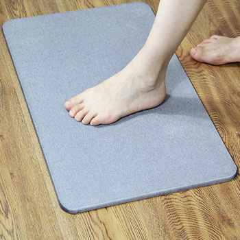 Natural Diatom mud Absorbent Foot pad Non-Slip Quick-Drying Floor mat for Bathroom diatomite Bath mat for Bathroom entrance pebble series flannel printing home anti slip absorbent entry mat bathroom mat door mat bedside mat