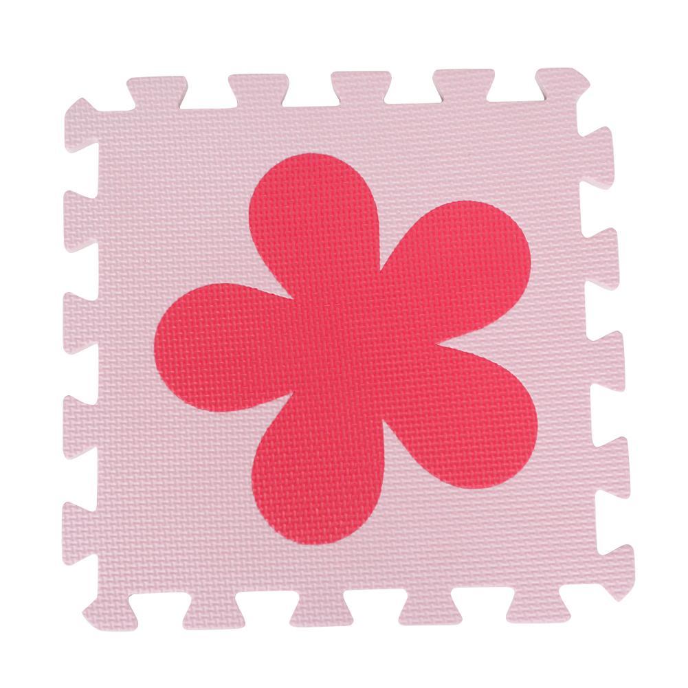10pcs EVA Foam Puzzle Play Mats Convenient Practical User-friendly Design Kids Interlocking Exercise Floor Pads Red Pink