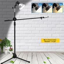 Photo Photographic Phone Studio Live Video Shooting Kit Adjustable 1.3M Floor Tripod Bracket Stand Boom Arm 35W LED Fill Light