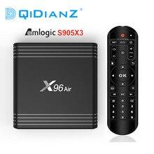 TV BOX X96 Air, Android 9,0, 4K, 8K, decodificador de señal con Amlogic S905X3, 4GB, 64GB, wi fi, 24fps, PK, X96 mini, hk1max, H96MAX