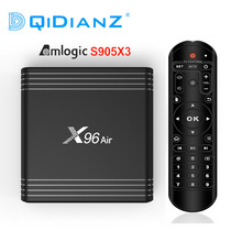 X96 אוויר Amlogic S905X3 אנדרואיד 9.0 טלוויזיה תיבת 4GB 64GB wifi 4K 8K 24fps סט למעלה תיבת x96Air PK X96 מיני hk1max H96MAX