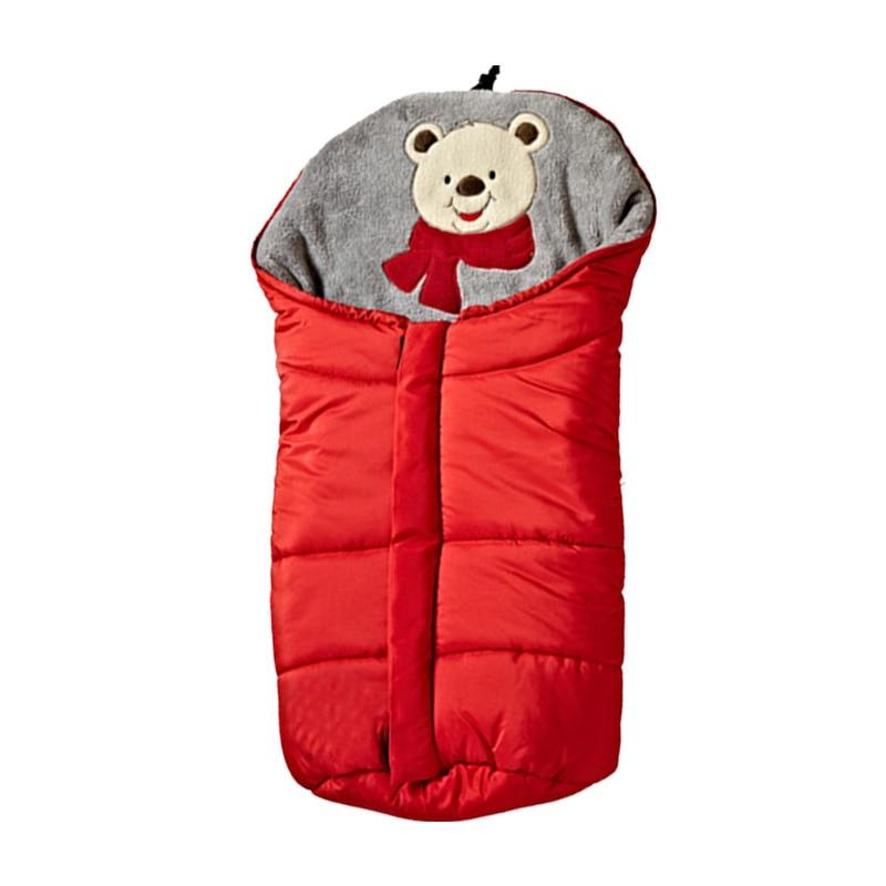Baby Warm Sleeping Bag For Outdoor Stroller Cute Cartoon Bear Printing Autumn Winter Infant Newborn Thick Sleepsack CL5691