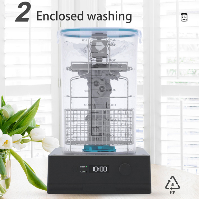 ANYCUBIC Wash & Cure 2.0 For Mars Photon Photons LCD SLA DLP 3D Printer Models UV Rotary Curing Resin Cleaning Machine 2 in 1 3
