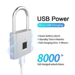 Image 2 - TELESIN ลายนิ้วมือล็อค Keyless USB ชาร์จสมาร์ทกุญแจปลดล็อกด่วนโลหะผสมสังกะสีโลหะความปลอดภัยประตูกระเป๋าเดินทางกระเป๋า
