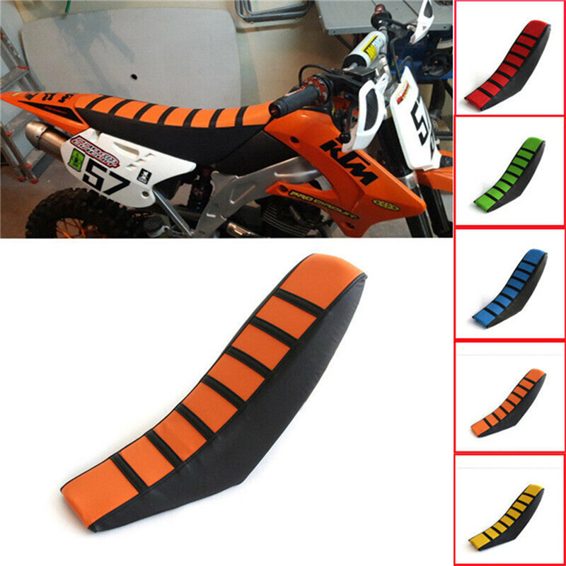 Motorcycle-Seat-Cover PUC Imitation-Leather Cushion Cross-Country Striped