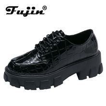 Fujin Women Causal Shoes Autumn Fashion Thick Bottom Lace Up Woman Dropshipping Muffin Breathable Female Leisure Sneaker