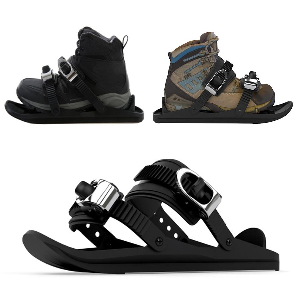 Outdoor Skiing Mini Sled Snow Board Ski Boots Ski Shoes Combine Skates With Skis Outdoor Sports Entertainment Supplies