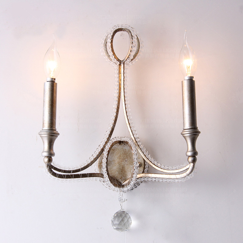 Vintage Wall Lamps Crystal Retro Bedroom Wall Sconces Home Interior Wall Lights French America Wall Light Fixtures Hallway Lamps Led Indoor Wall Lamps Aliexpress