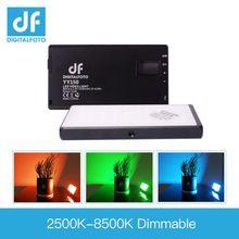 DF YY150 светодиодный 12 Вт RGB двухцветный Диммируемый ультра тонкий панельный светильник 2500-8500k для видеосъемки DSLR YouTube фотостудии
