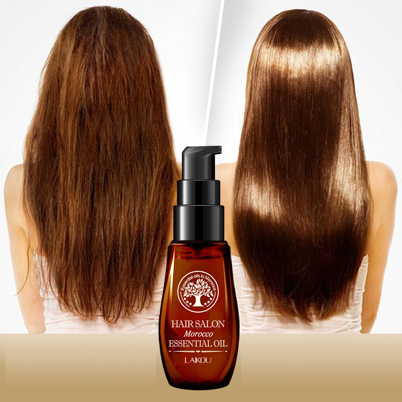 Hot! Hair Care Moroccan Pure Argan Oil Hair Essential Oil For Dry Hair Types Multi-functional Hair & Scalp Treatments TSLM1