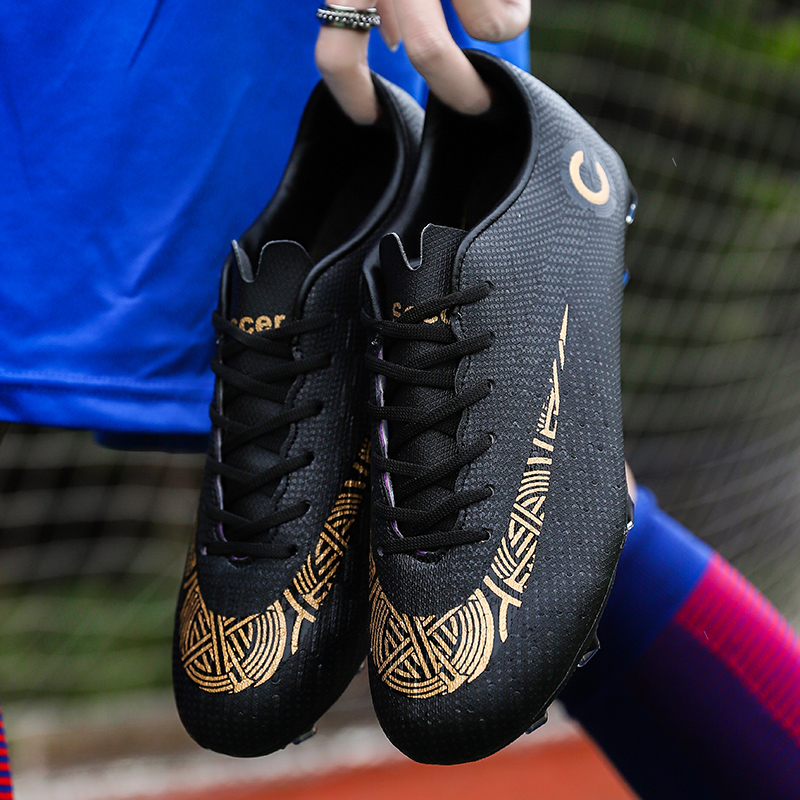 Men Large Size FG/TF Soccer Shoes Football Cleats Soccer Ankle Boots Teenager Training Sneakers Kids Indoor Sports Shoes Unisex
