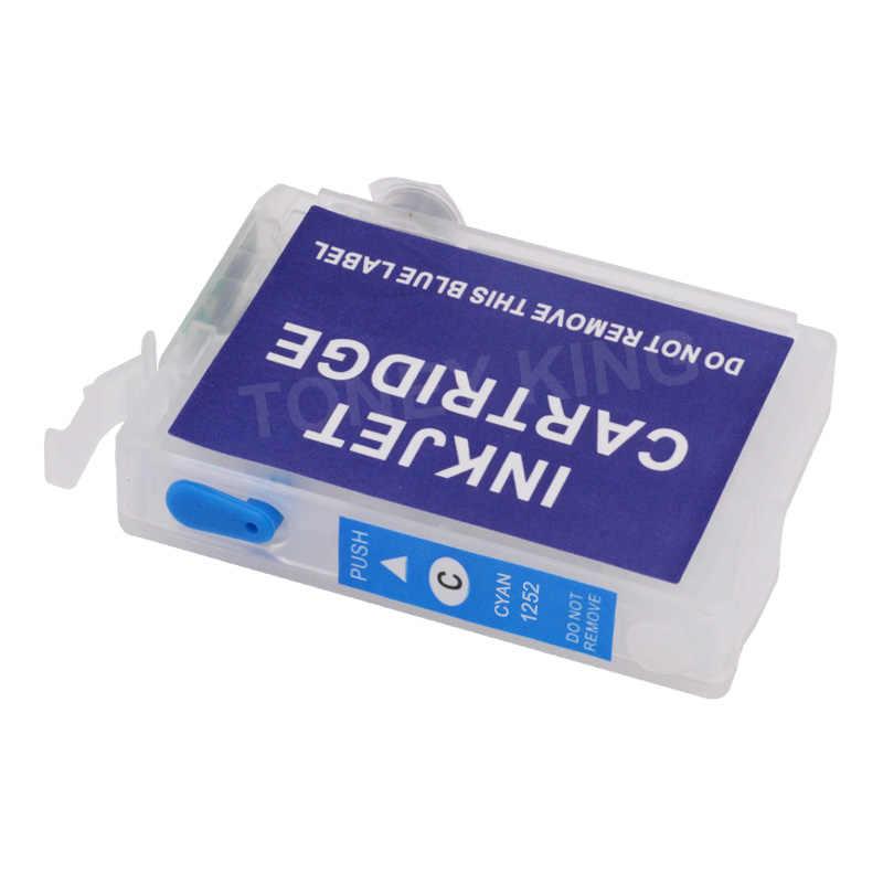 Toney King Isi Ulang Cartridge untuk Epson T1251 T1252 T1253 T1254 Kartrid Tinta untuk Stylus NX125 NX127 NX130 NX230 Printer