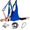 Vollen Satz 2,5*1,5 m Aerial Yoga Hängematte Anti-Gravity Nylon Fliegen Schaukel Pilates Home GYM Hängen Gürtel decke Platten