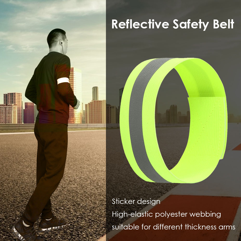 2pcs Night Running Arm Strap Safety Reflective Belts Portable Armband Outdoor Cycling Waterproof Cycling Elements