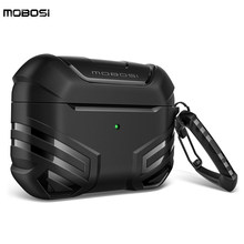 MOBOSI Vanguard série Armor pour AirPods Pro complet du corps rigide housse de protection peau avec porte-clés pour AirPods 2/1