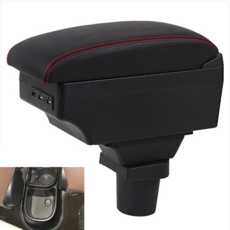 Para Toyota yaris vitz caja de reposabrazos Centro consola caja de almacenamiento con interfaz USB Decoración accesso
